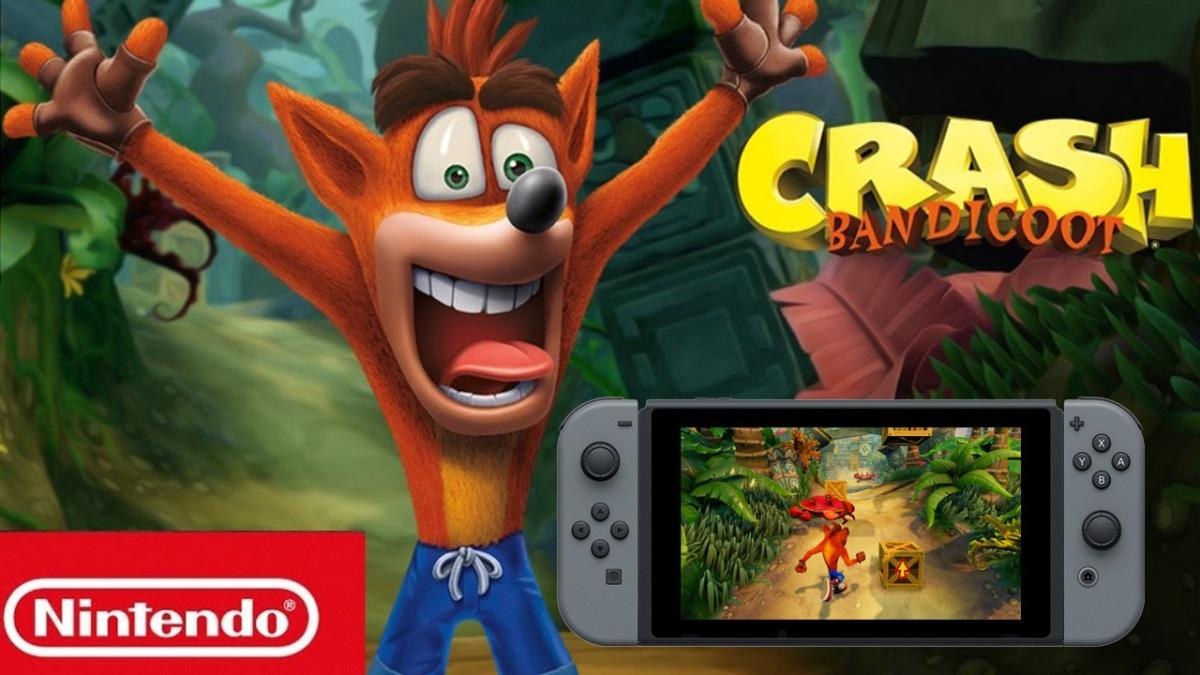 Así luce Crash Bandicoot en el modo portátil deSwitch