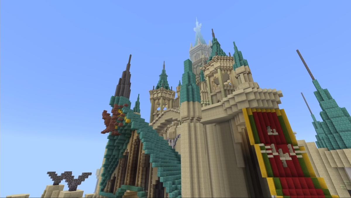 Así luce el castillo de Zelda: Breath of the Wild enMinecraft