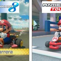 Mario Kart 8 vs Mario Kart Tour comparación gráfica