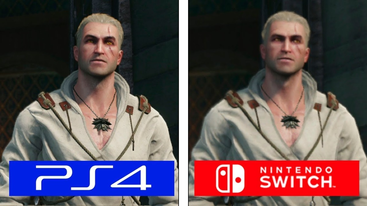 The Witcher 3 Nintendo Switch vsPS4