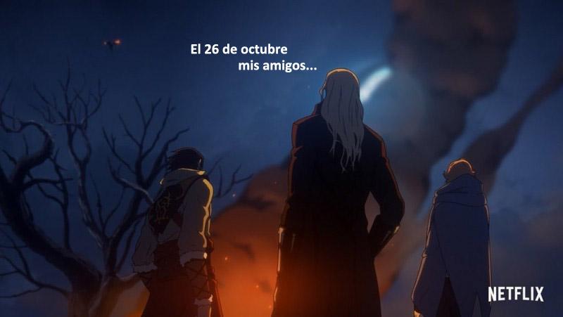 La temporada 2 de Castlevania sale el 26 deoctubre
