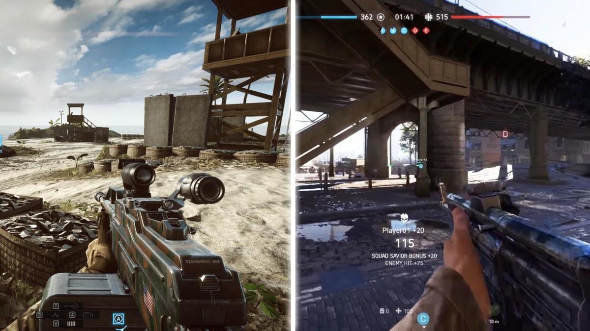 Comparan Battlefield 4 vs Battlefield5