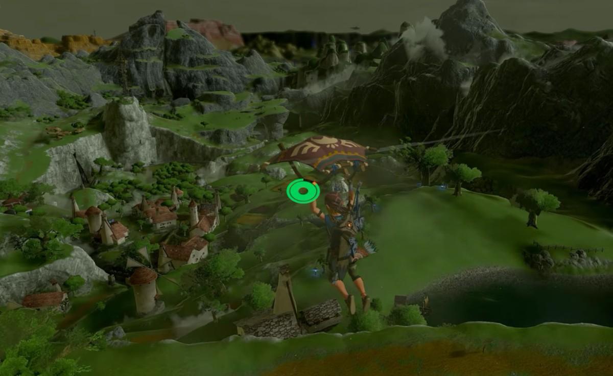 Zelda Breath of the Wild sin Cel Shading se ve completamentediferente