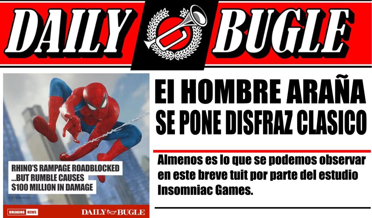 Marvel's Spiderman se deja ver en su disfrazclásico