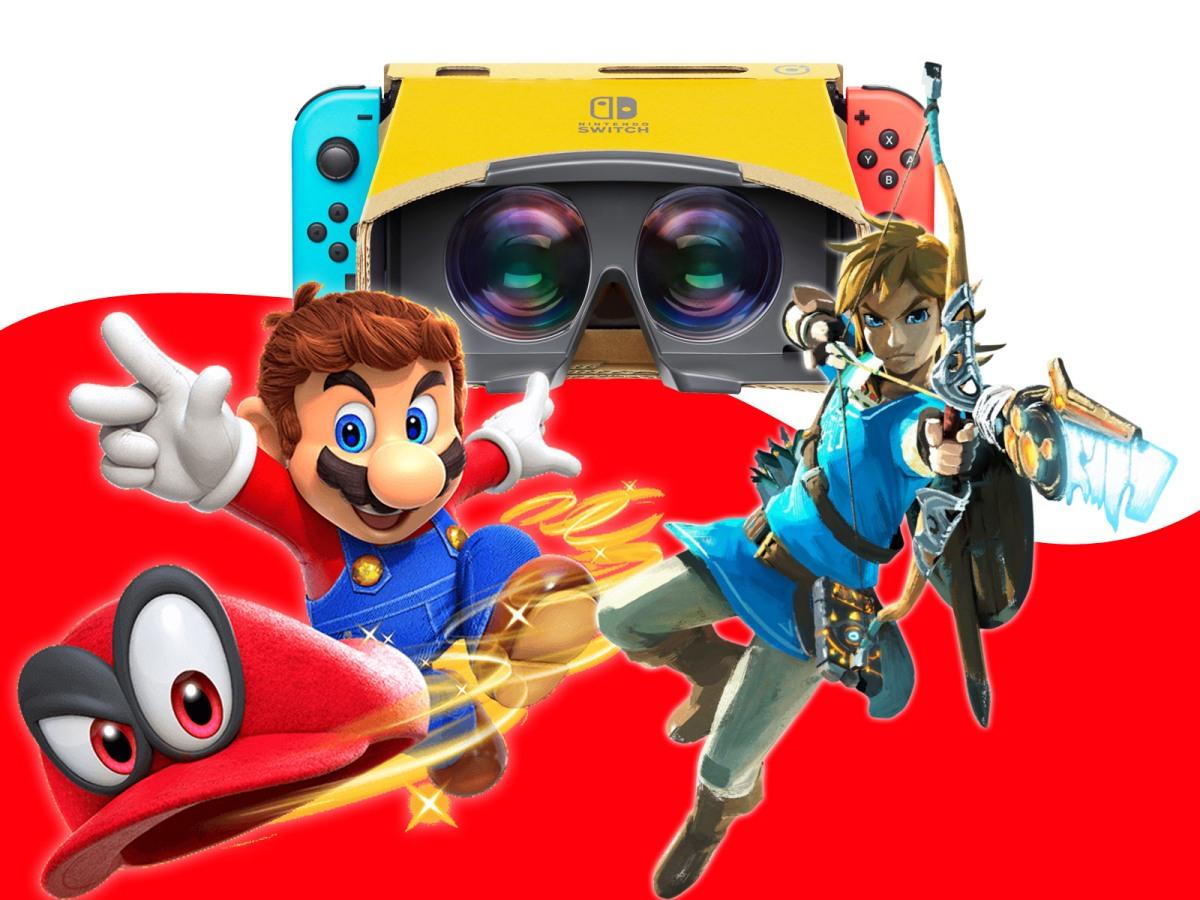 Zelda: Breath of the Wild y Mario Odyssey compatibles con Nintendo LaboVR