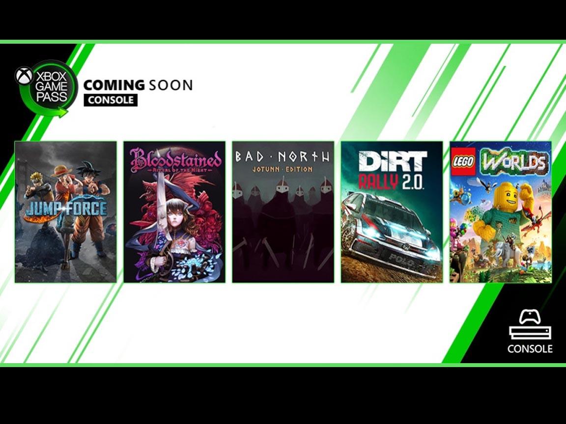 Jump Force, Bloodstained: Ritual of the Night y otros mas se unen al catalogo de Xbox GamePass