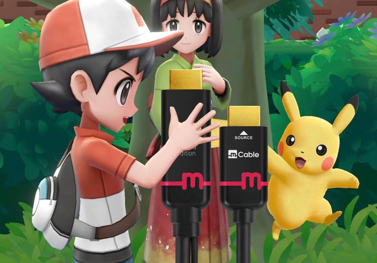 Pokemon Let's Go HDMI vsmCable