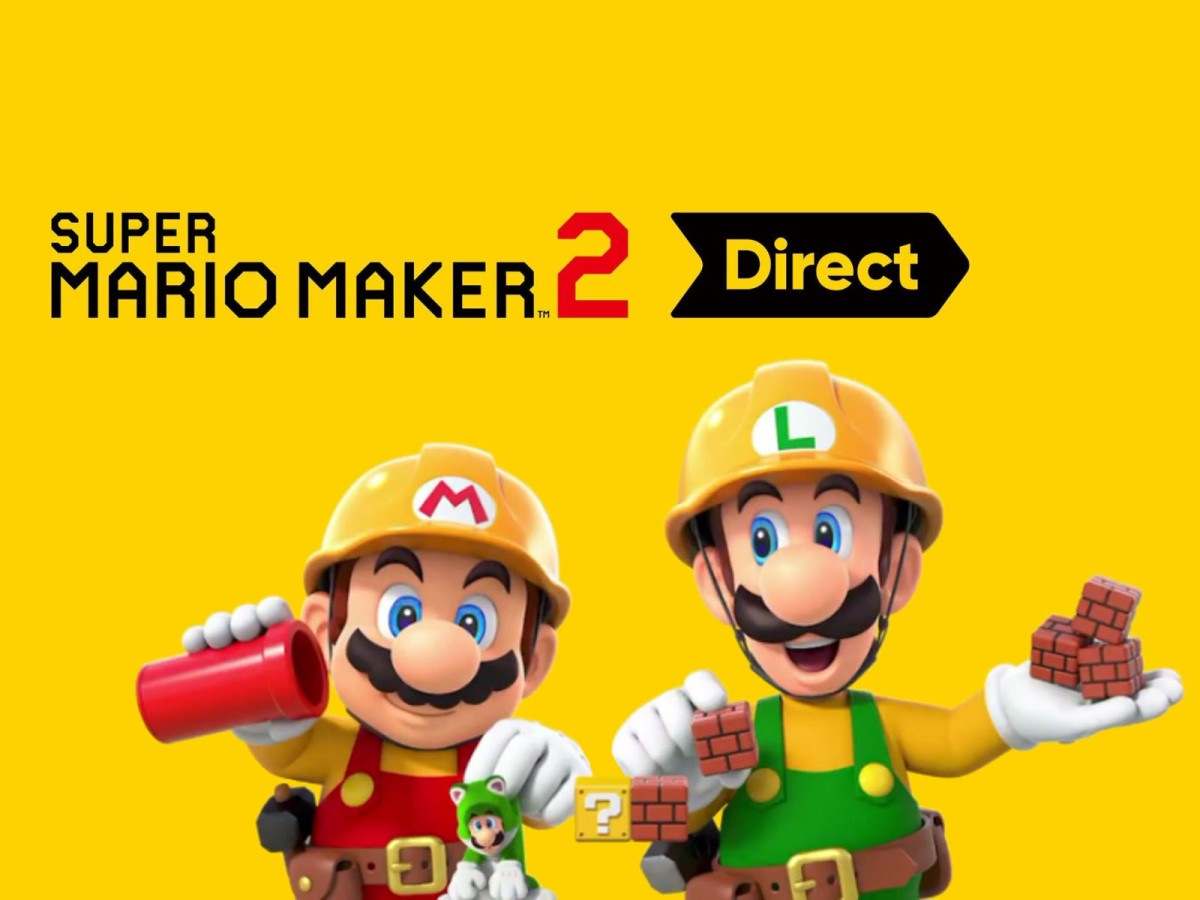 Mañana tendremos Nintendo Direct dedicado a Super Mario Maker2