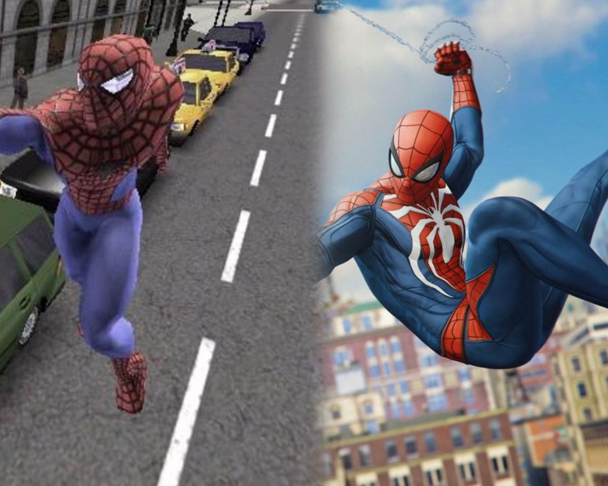 Evolucion de los juegos de Spiderman2000-2018