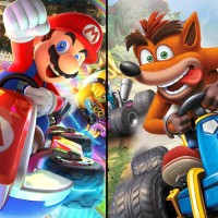 Crash Team Racing Nitro Fueled vs Mario Kart 8 Deluxe