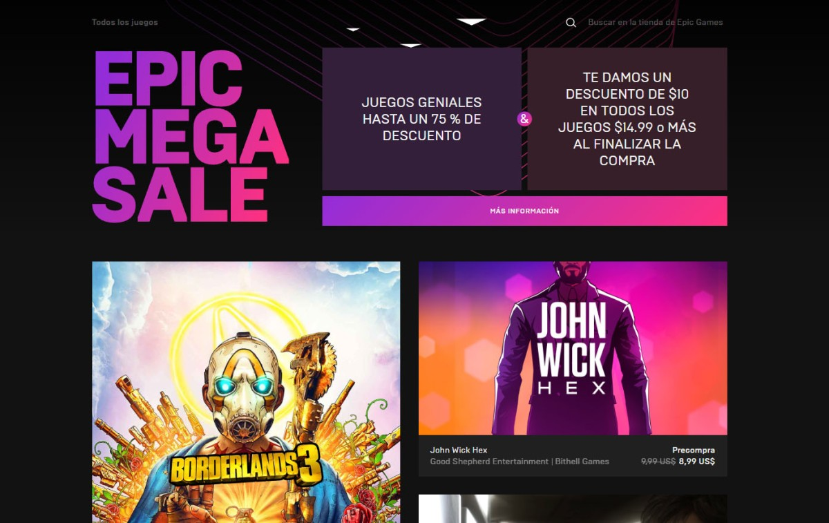 Algunas distribuidoras retiran sus juegos de la primera gran rebaja de la Epic GamesStore