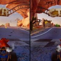 Crash Team Racing Nitro Fueled Switch vs PS4 comparación gráfica