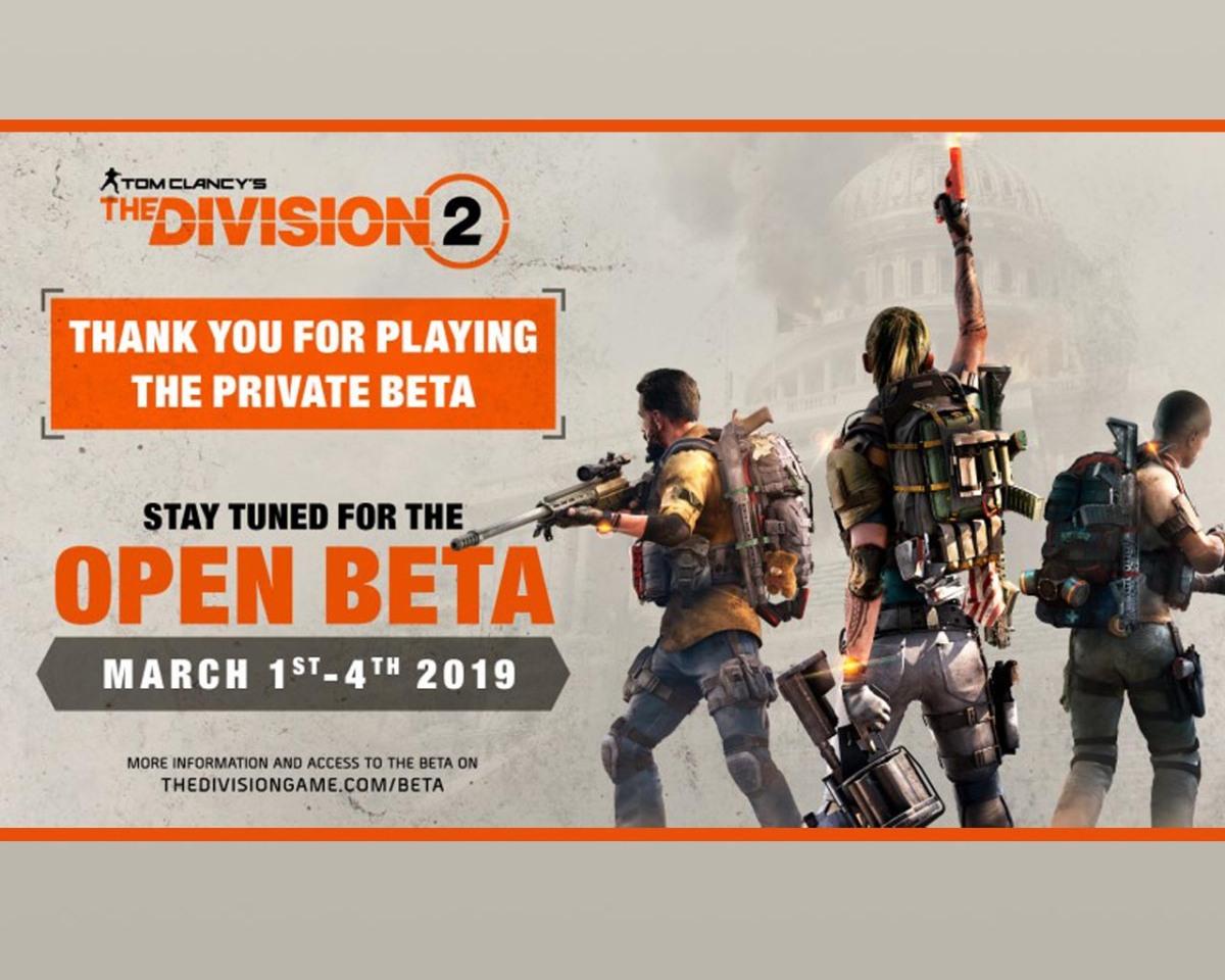 The Division 2 anuncia su betaabierta