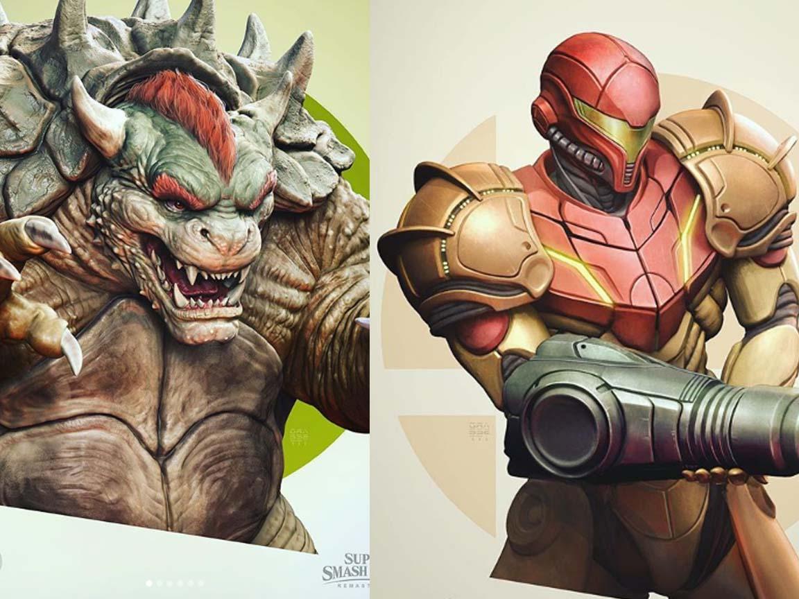 El Director de arte de God of War comparte su versión real de los personajes de Smash BrosUltimate