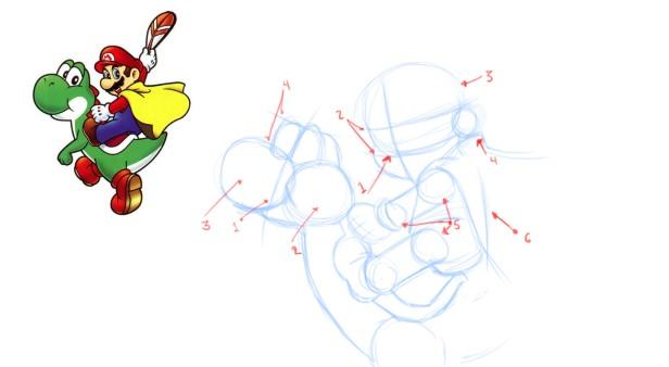 tutorial-mario-2 lineas iniciales y esqueleto