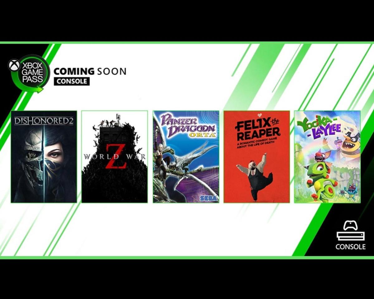 World War Z, Dishonored 2 y mas en el Game Pass de XboxOne