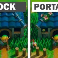 Link's Awakening Dock vs Modo Portátil comparación gráfica