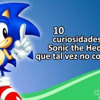 10 curiosidades de Sonic the Hedgehog que quizás no sabías