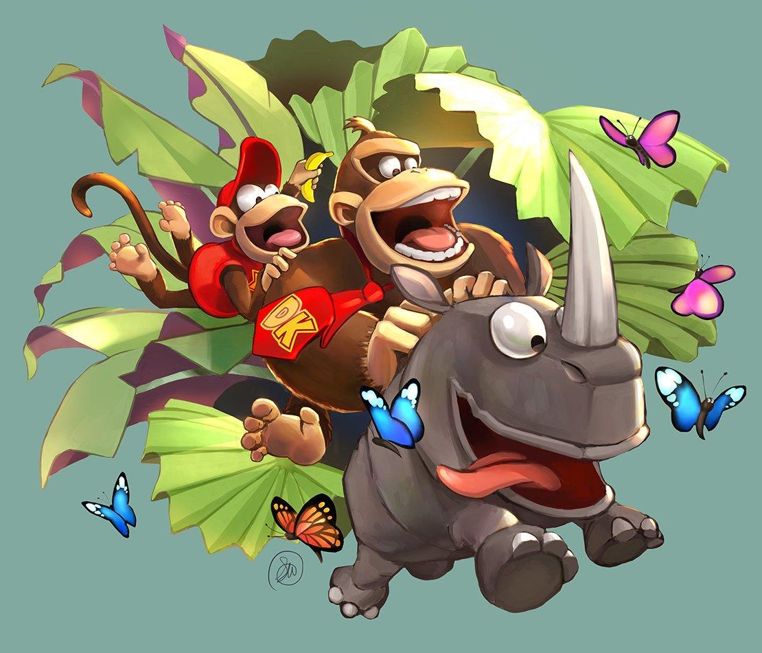 Por motivo de sus 25 años de celebración, Donkey Kong Country recibe nuevoarte