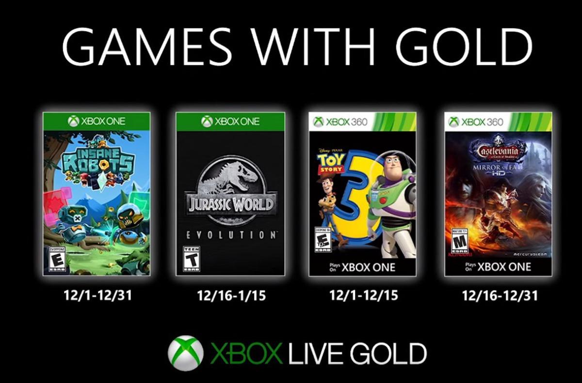 Estos son los Games with Gold de Xbox One en Diciembre2019