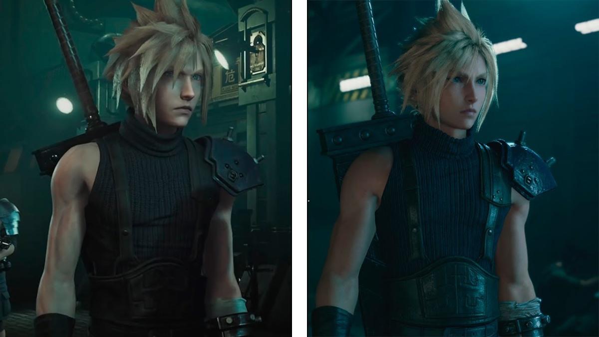 Así lucen los gráficos de Final Fantasy 7 Remake contra la versión del2015