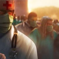 Esta es la imágen con la Mark Ruffalo reconoce a los médicos y enfermeros como los verdaderos Héroes