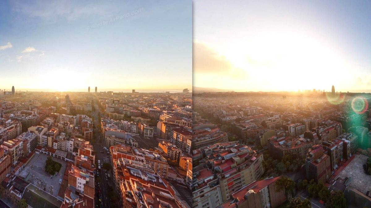 Microsoft Flight Simulator vs  realidad, comparacióngráfica