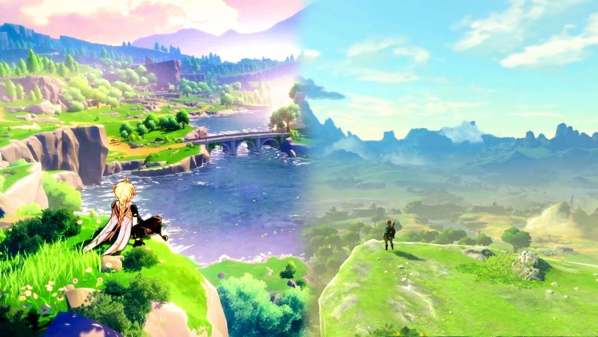 Nueva comparativa de Genshin Impact y Breath of the Wild